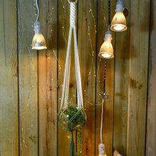 1 Stueck gewebter Pflanzenhalter