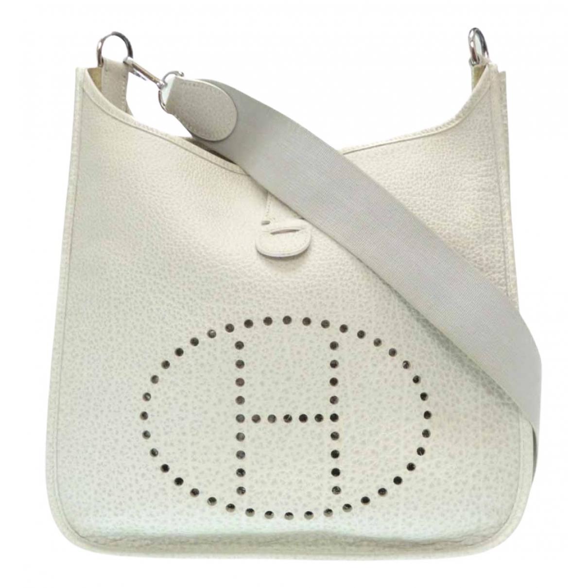 Hermès Evelyne White Leather handbag for Women \N