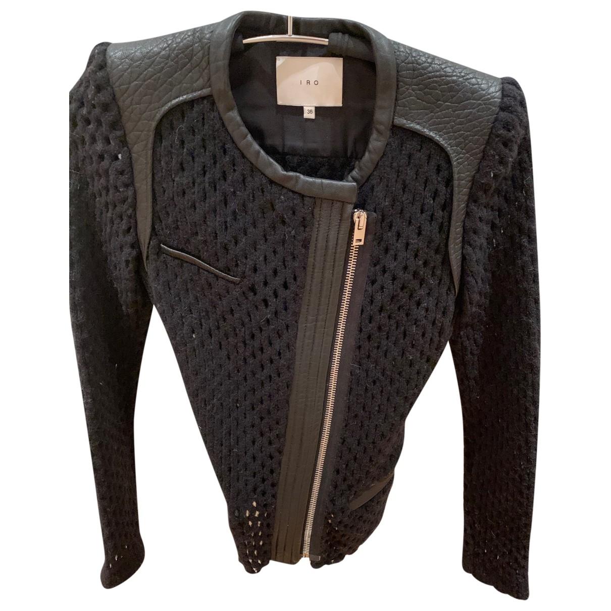 Iro \N Black Wool Leather jacket for Women 36 FR
