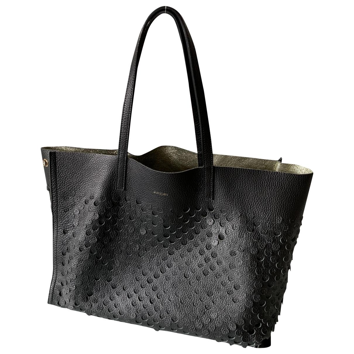 Marc Cain \N Black Leather handbag for Women \N