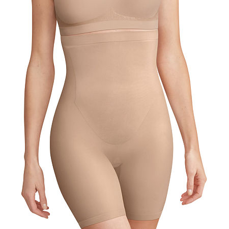 Bali Comfort Revolution High Waist Extra Firm Control Thigh Slimmers - Df0053, Small , Beige
