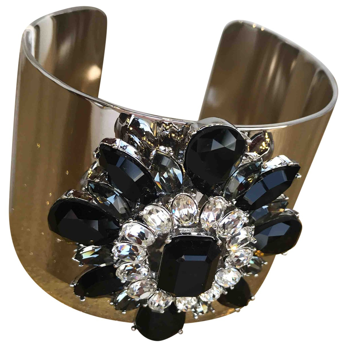 Non Signe / Unsigned \N Armband in  Schwarz Metall