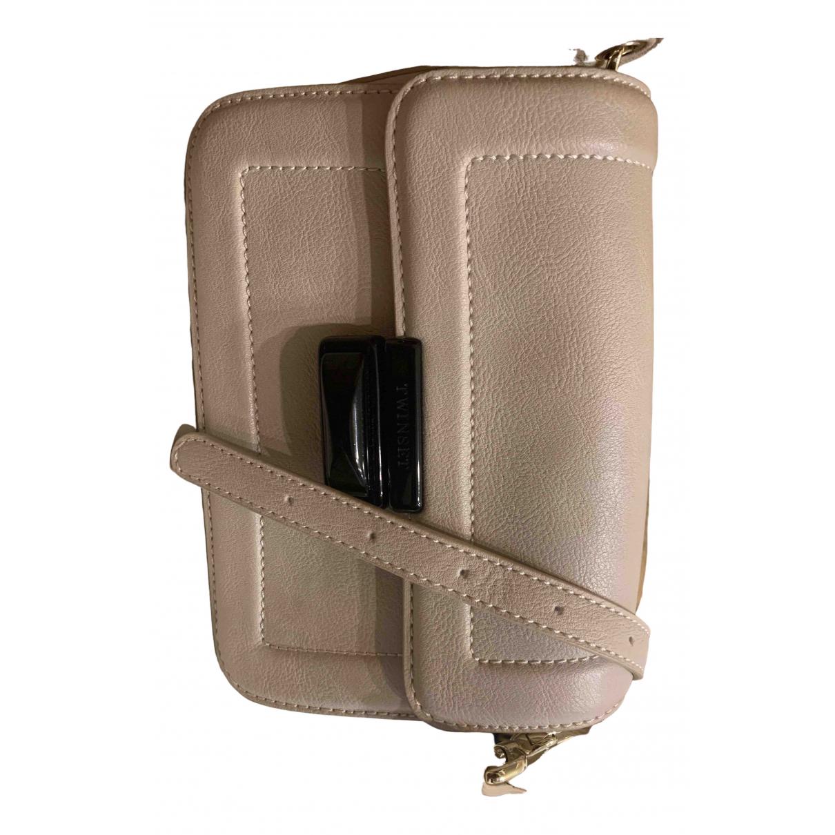 Twin Set \N Beige Leather handbag for Women \N
