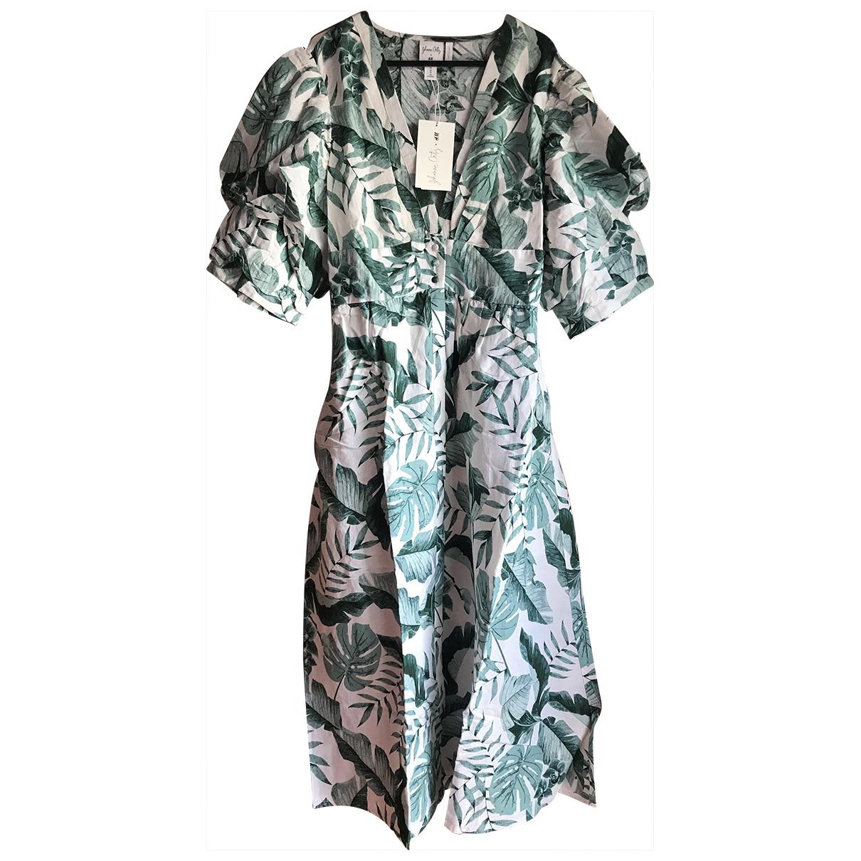Johanna Ortiz X H&m \N Kleid in  Bunt Leinen