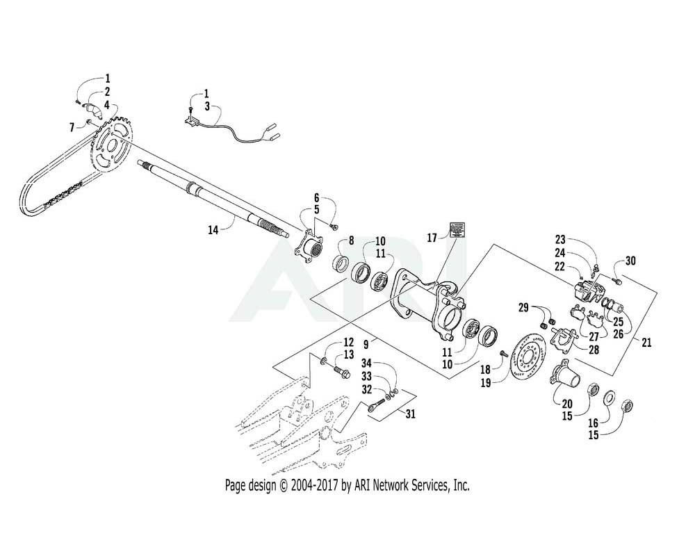 Arctic Cat OEM 3305-131 Shaft Rear Wheel