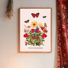 Schmetterlingsdruck Wandmalerei ohne Rahmen