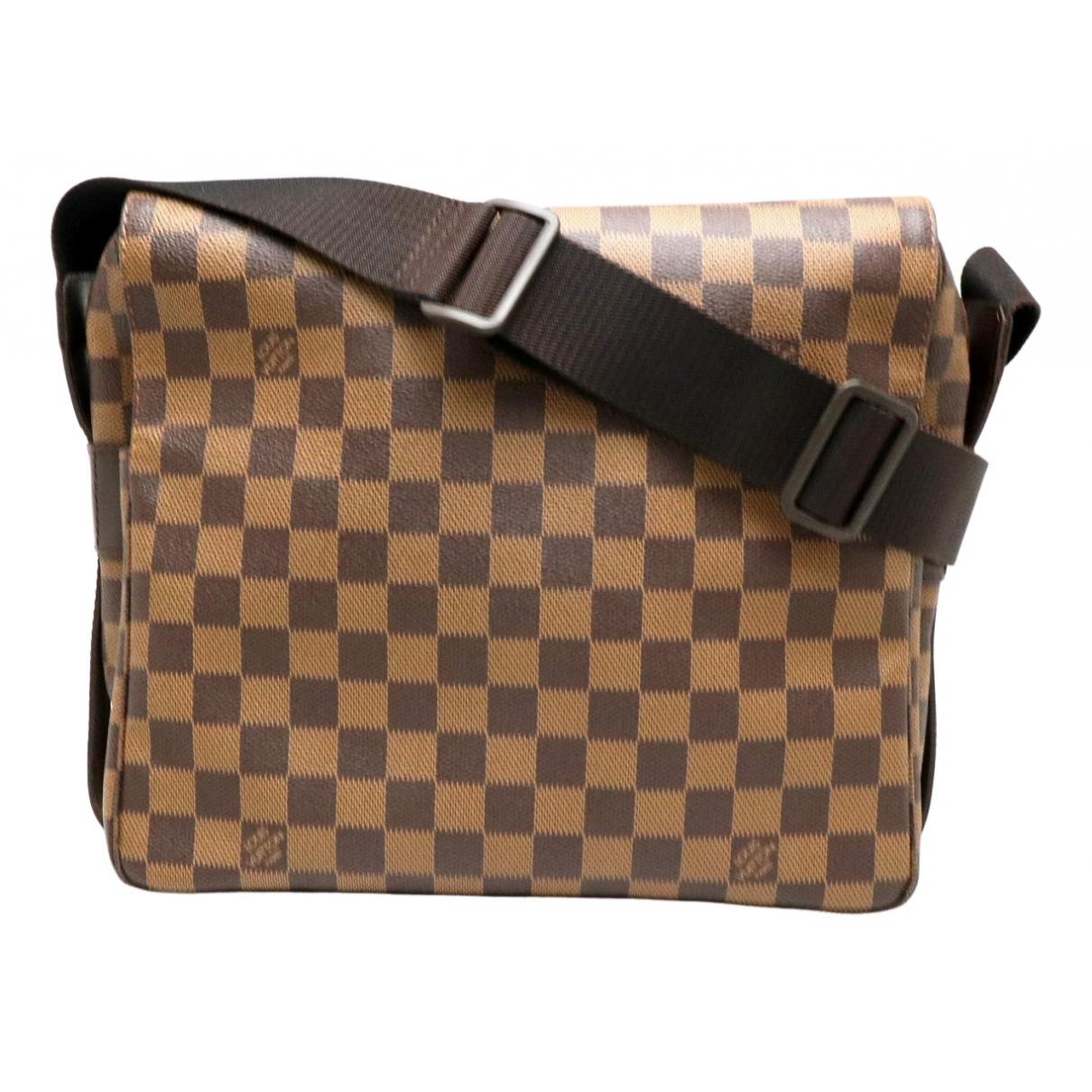 Louis Vuitton - Sac a main Naviglio pour femme en toile - marron