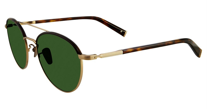 John Varvatos V518GTO53 Mirrored Round Sunglasses Gold/Tortoise