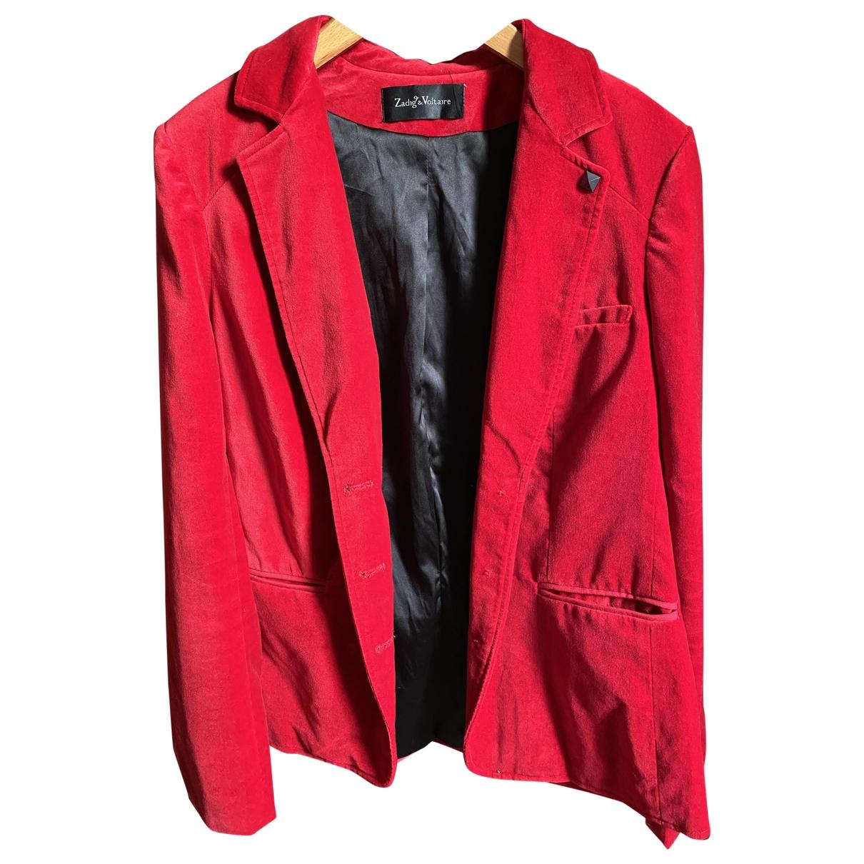 Zadig & Voltaire \N Red Velvet jacket for Women M International