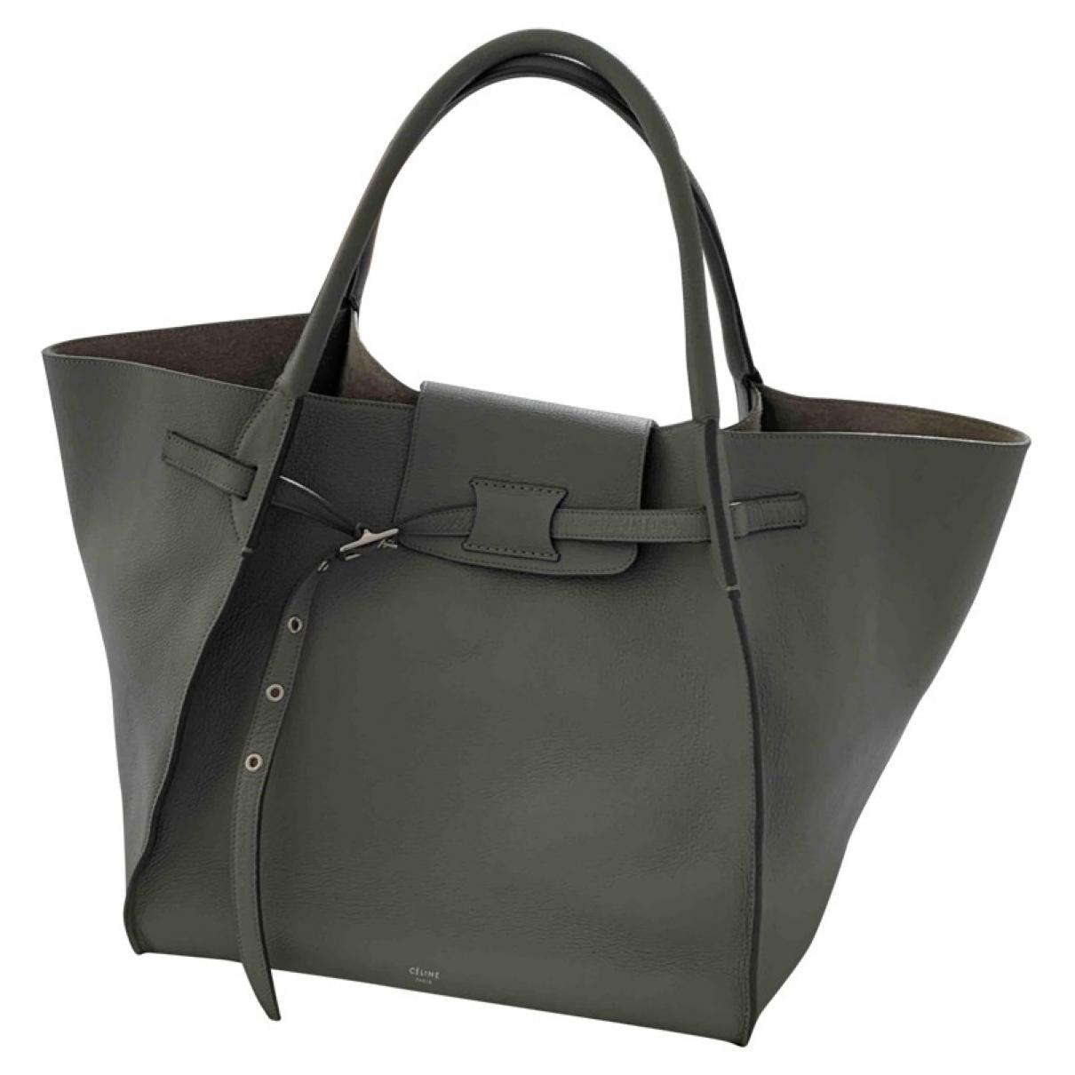 Celine Big Bag Grey Leather handbag for Women \N