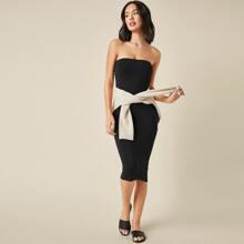 Solid Bodycon Tube Dress