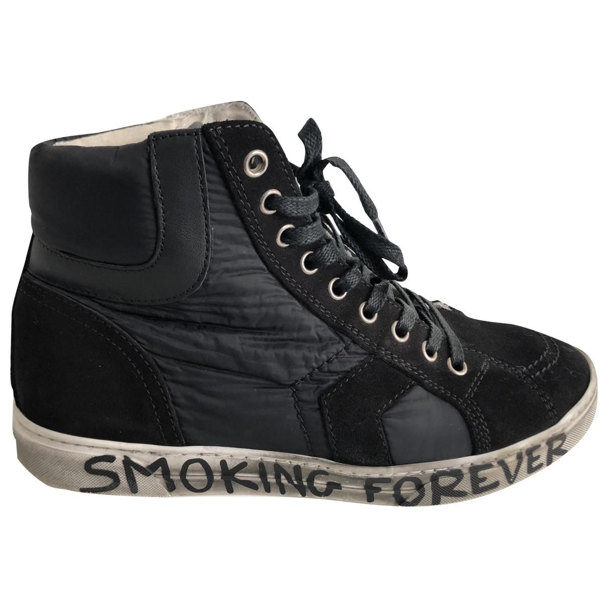Saint Laurent Joe Sneakers in  Schwarz Veloursleder