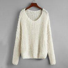 Chunky Knit Batwing Sleeve Oversized Sweater