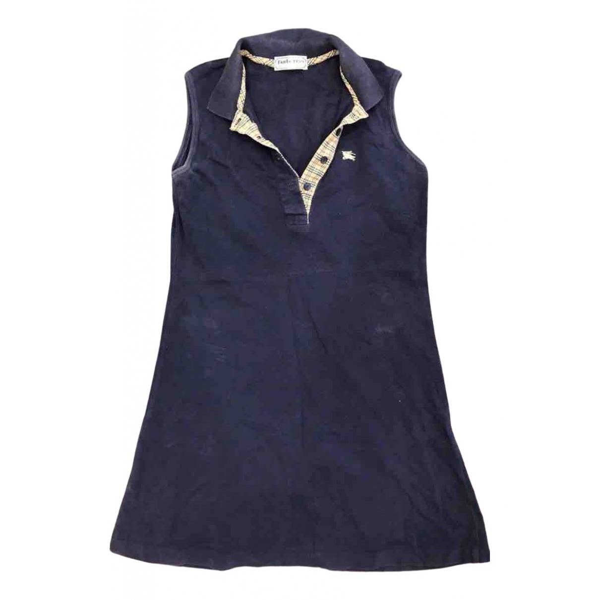 Burberry \N Kleid in  Marine Baumwolle