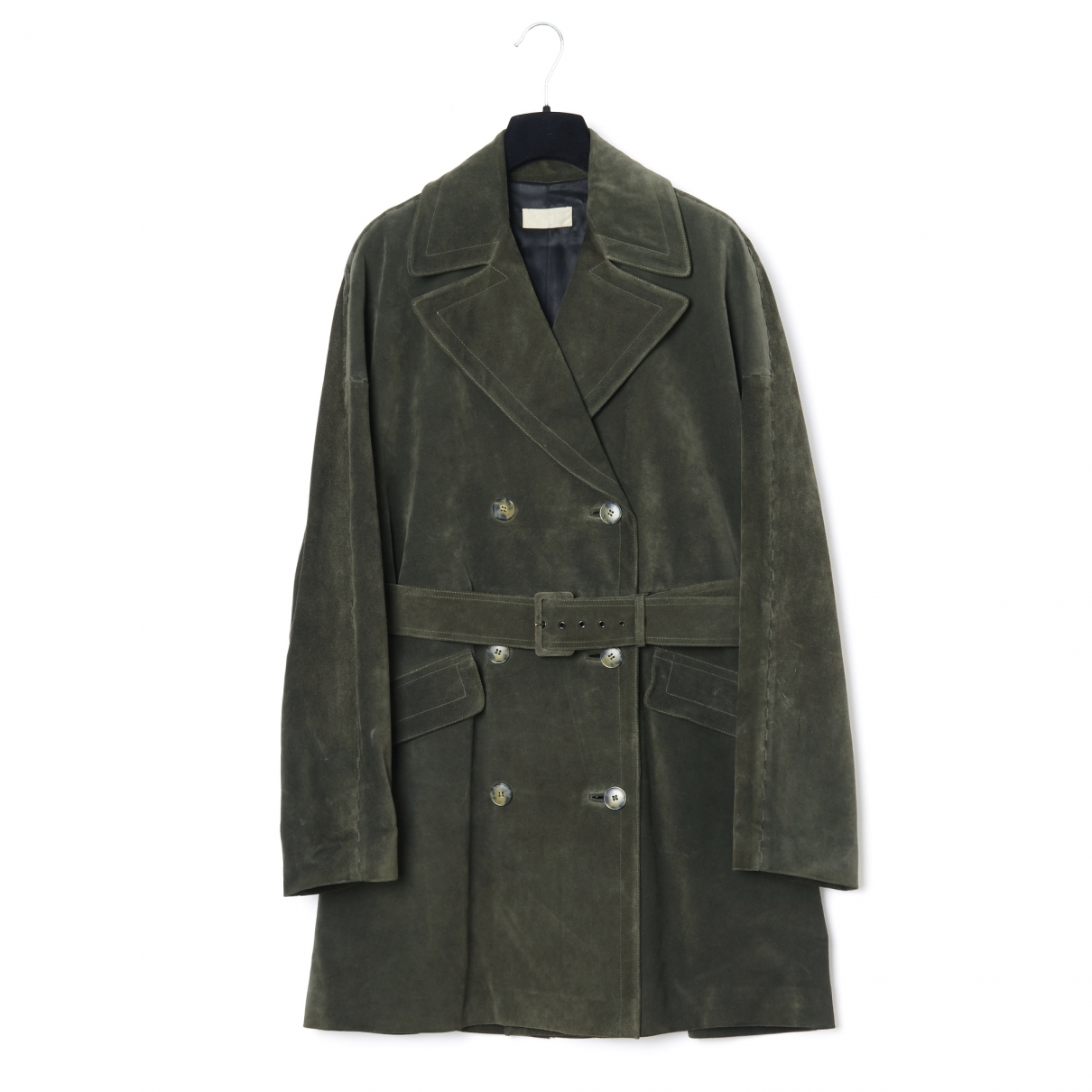 Alaïa \N Khaki Suede Trench coat for Women 40 FR
