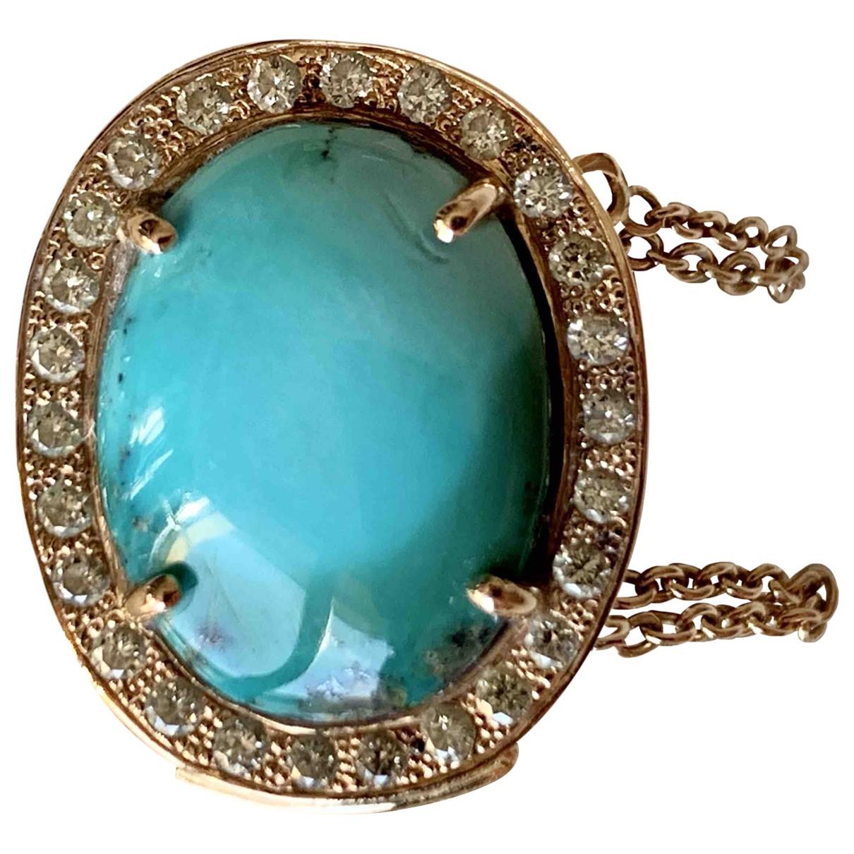 - Bague Turquoises pour femme en or jaune - turquoise