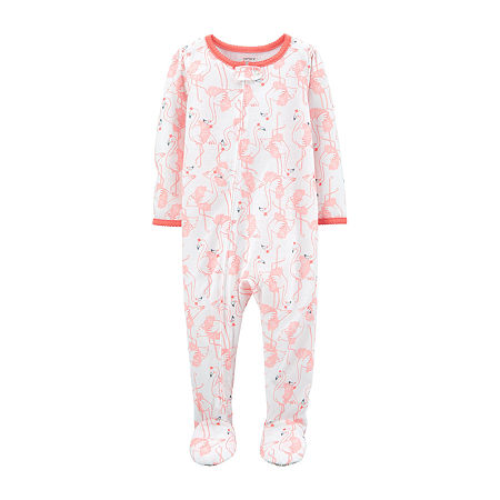 Carter's Baby Girls Knit Long Sleeve One Piece Pajama, 24 Months , Multiple Colors