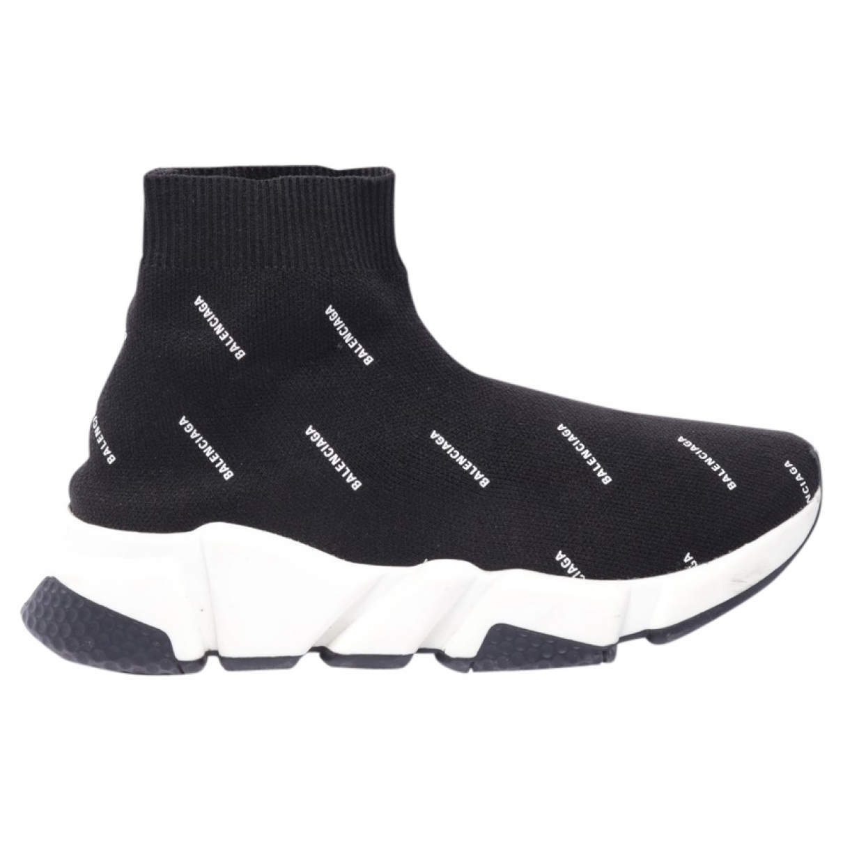 Balenciaga \N Black Leather Flats for Women 38.5 EU