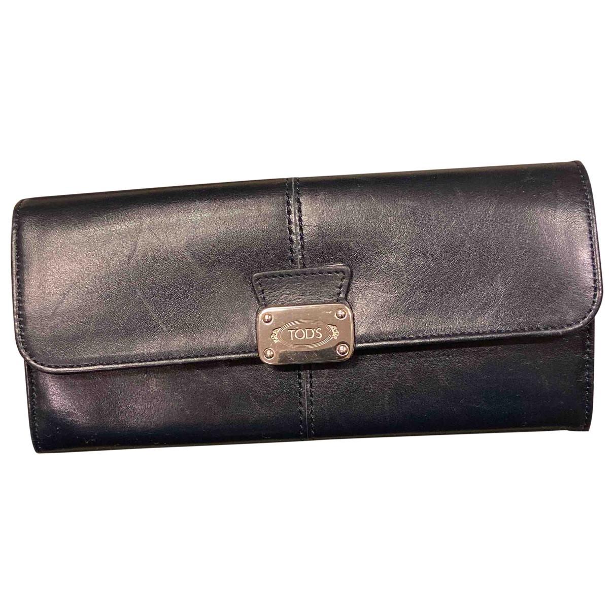Tods - Portefeuille   pour femme en cuir - noir