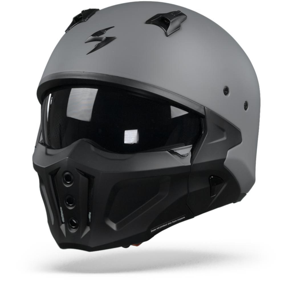 Scorpion Covert-X Solid Casco Jet Gris Cemento Mate L