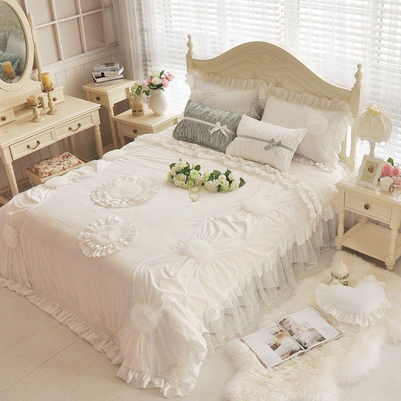 Princess Four-Piece Sheet Set 100% Cotton Bedding Sets Endurable Skin-friendly Full Queen