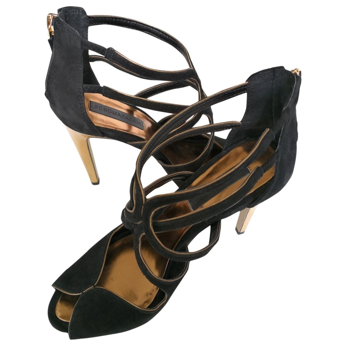 Bcbg Max Azria \N Black Leather Heels for Women 39 EU