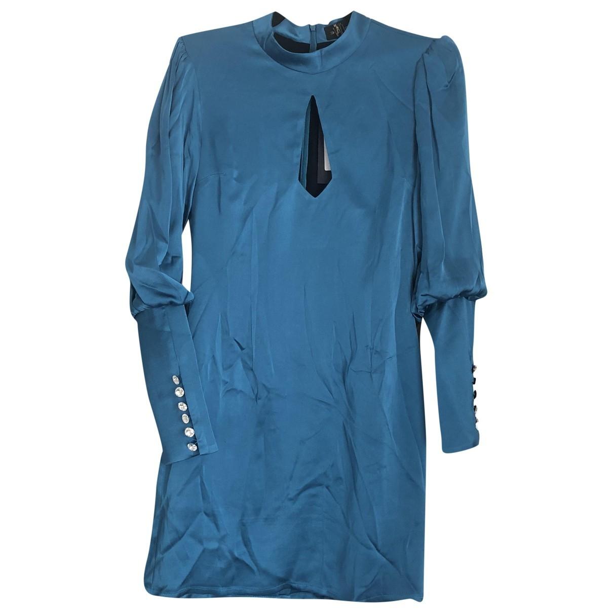 De La Vali \N Blue Silk dress for Women 8 UK
