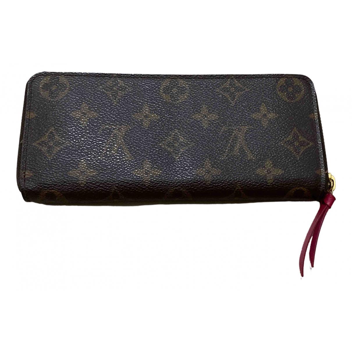 Louis Vuitton Clemence Portemonnaie in  Braun Leinen