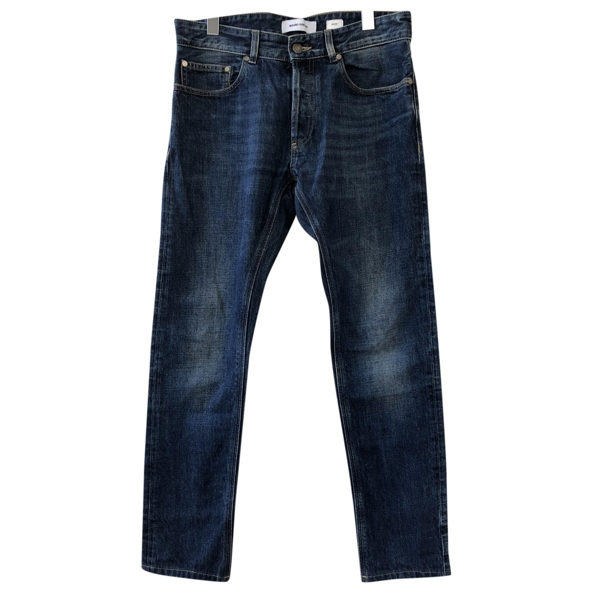 Mauro Grifoni \N Blue Cotton Jeans for Women 30 US