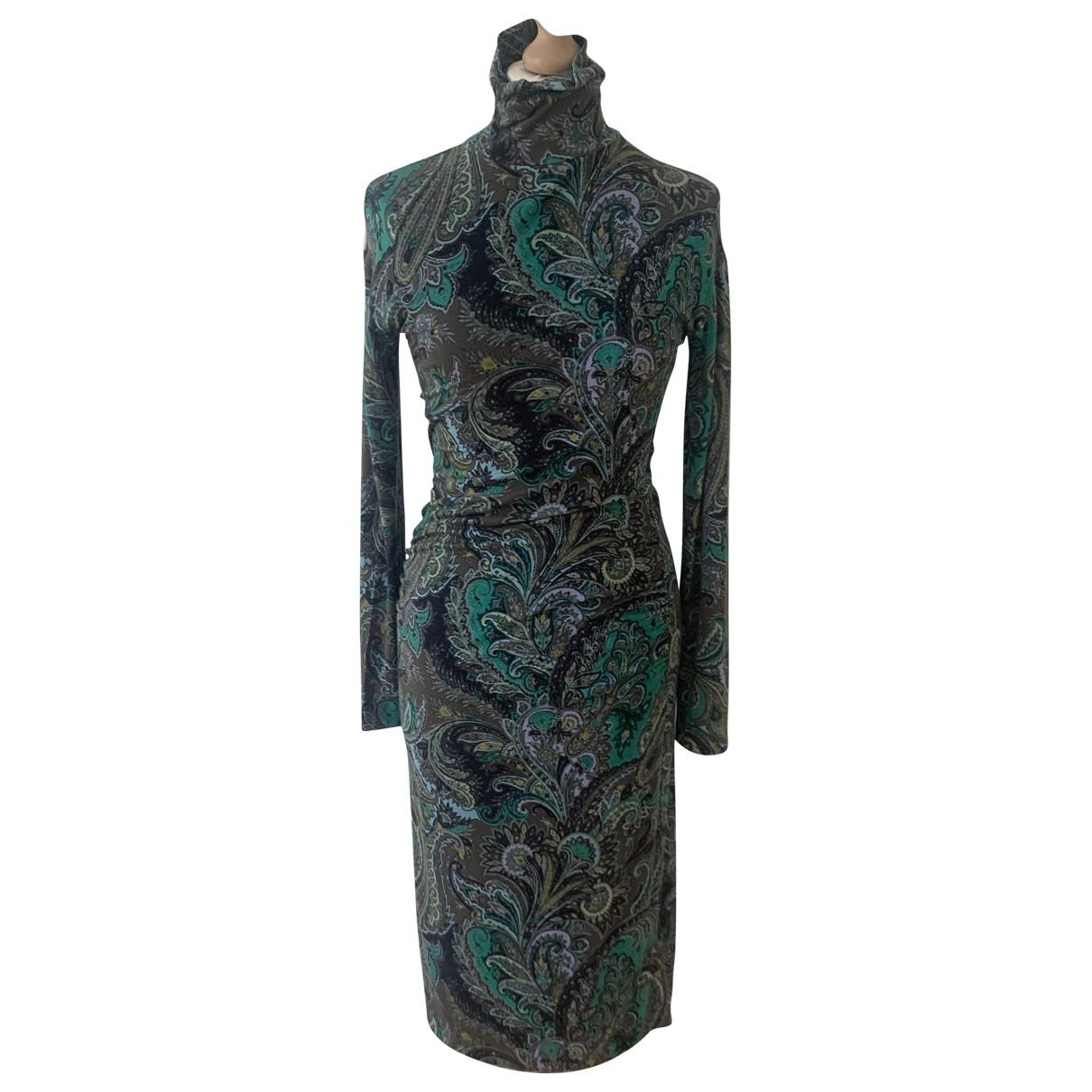 Etro \N Multicolour Cotton - elasthane dress for Women 42 IT