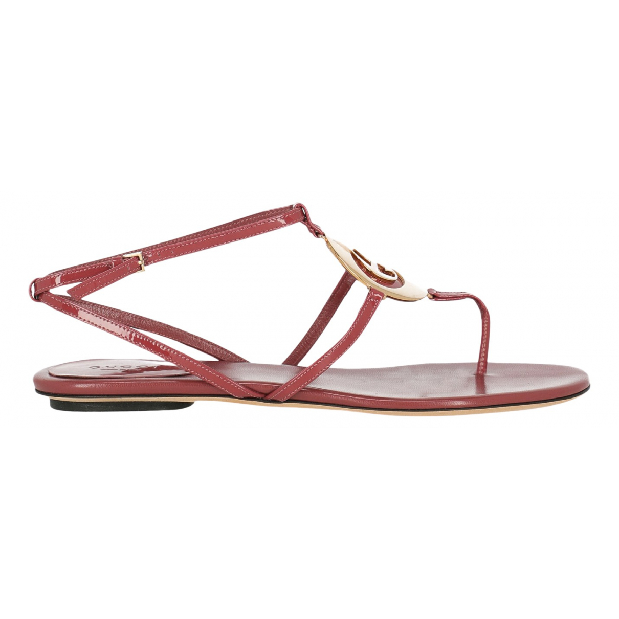 Gucci N Pink Leather Sandals for Women 38 IT
