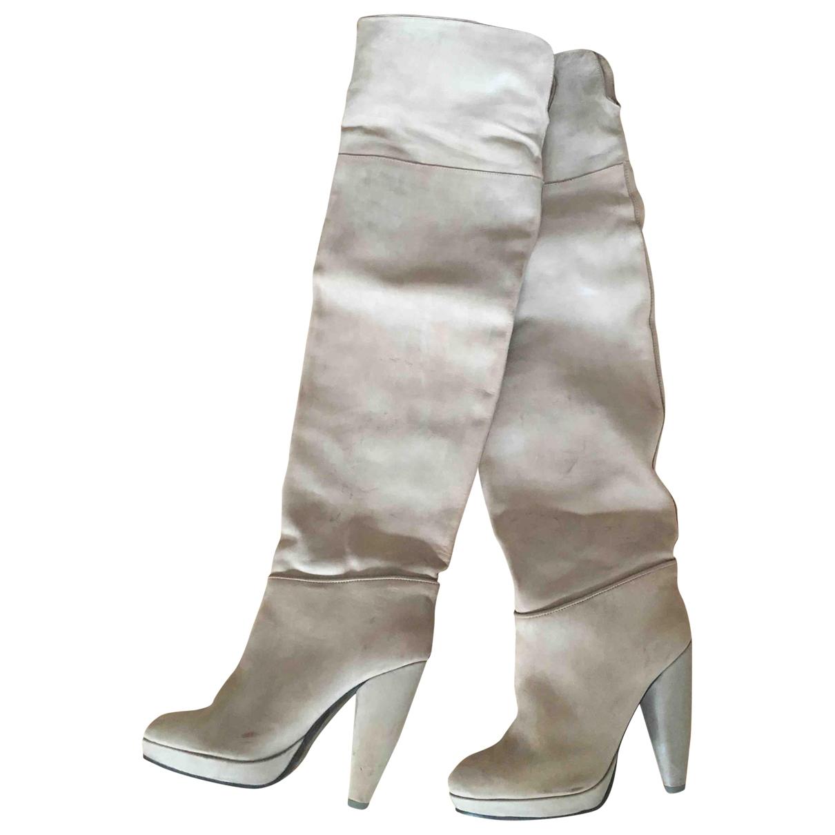 Comptoir Des Cotonniers - Bottes   pour femme en cuir - beige