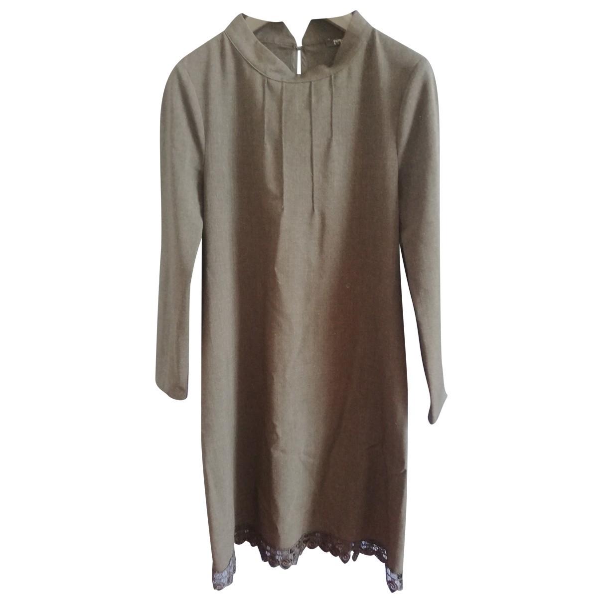 Patrizia Pepe \N Kleid in  Anthrazit Wolle