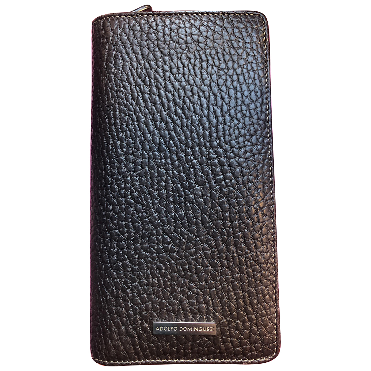 Adolfo Dominguez \N Brown Leather Small bag, wallet & cases for Men \N