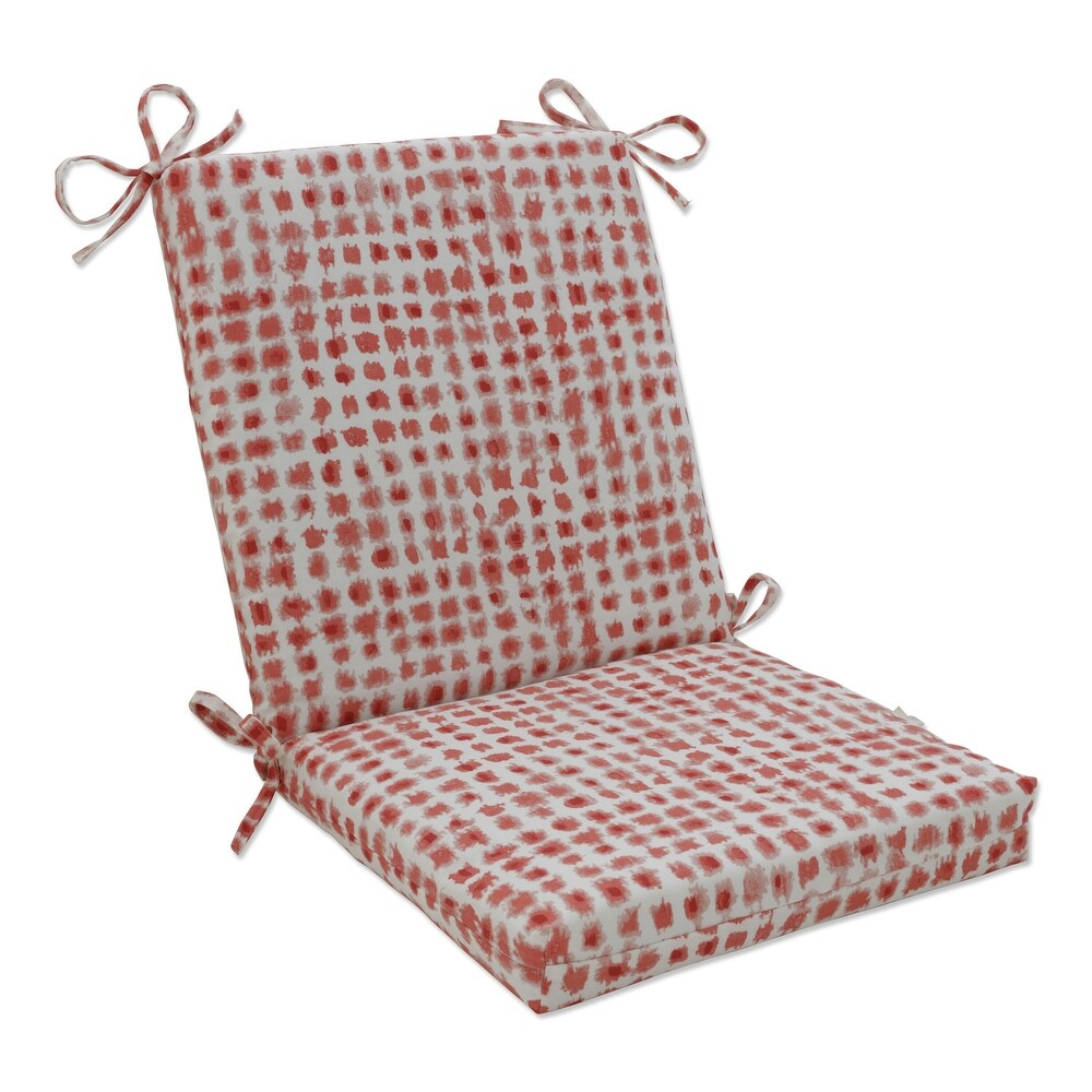 Pillow Perfect Outdoor | Indoor Alauda Coral Isle Chair Cushion 36.5 X 18 X 3 (Red)
