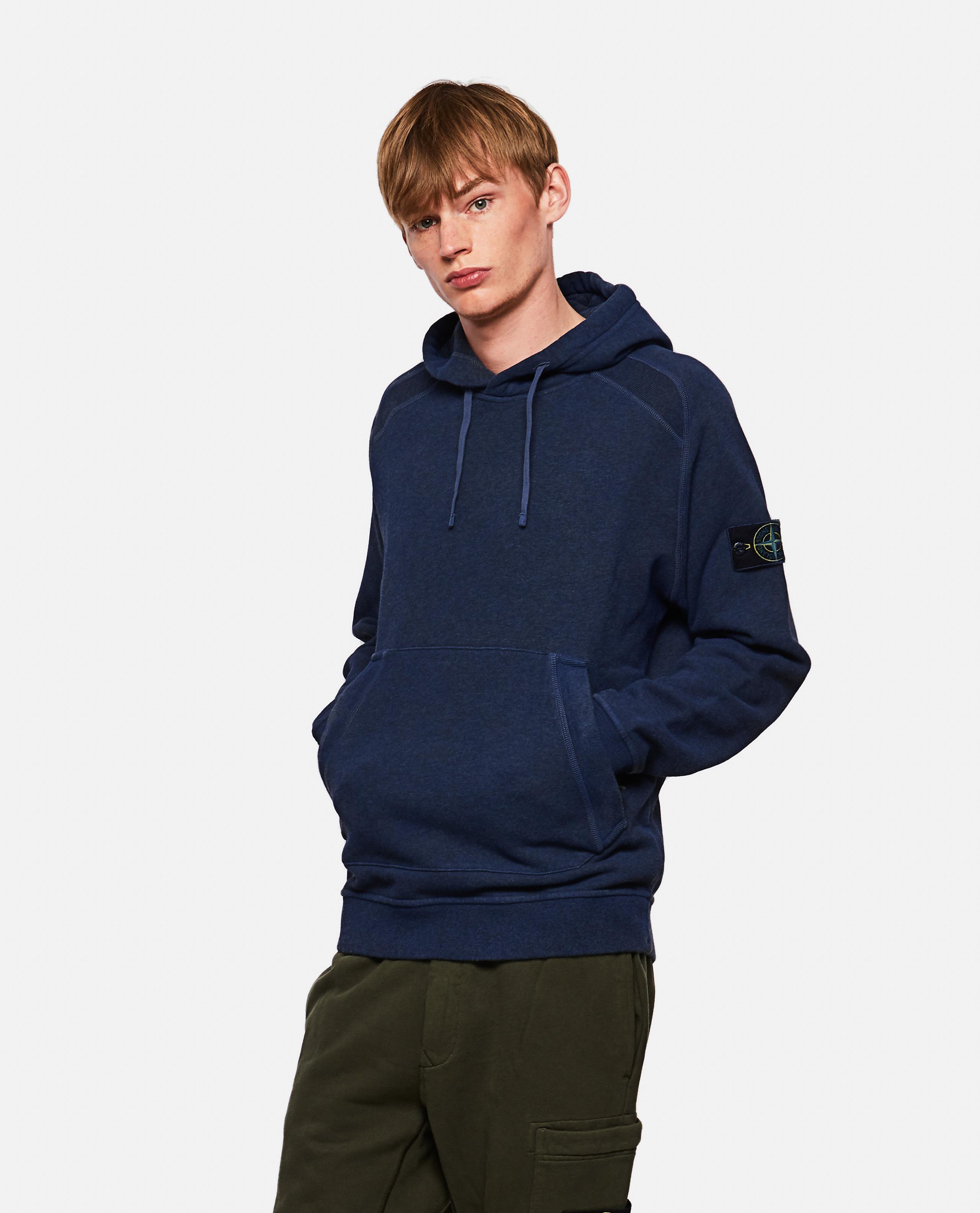 Sweatshirt in melange cotton