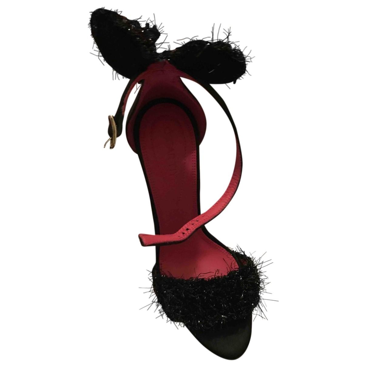 Oscar Tiye \N Black Leather Sandals for Women 36.5 EU