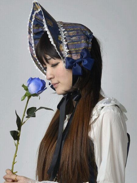 Milanoo Sombrero de lolita con estampado y lazo
