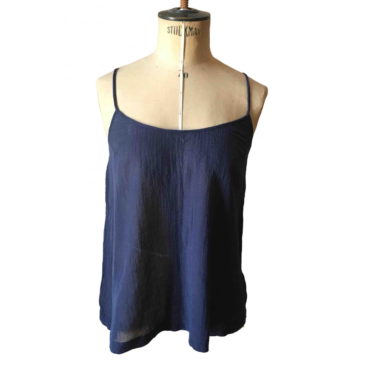 American Vintage - Top   pour femme en coton - marine