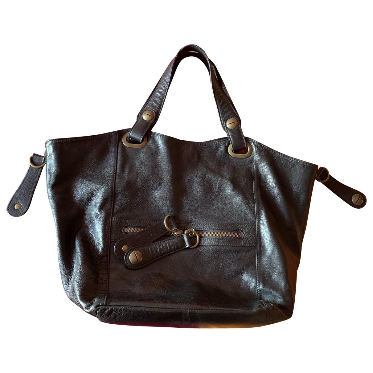 Gerard Darel Tote Flower Black Leather handbag for Women \N