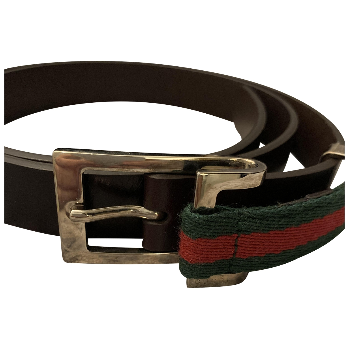 Gucci \N Brown Cloth belt for Women 90 cm