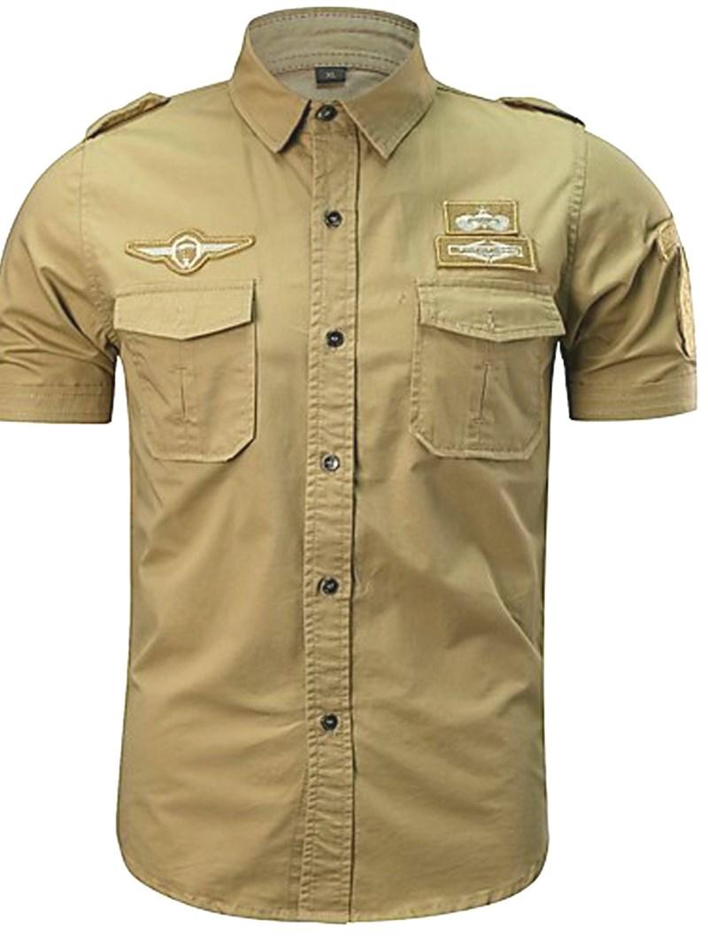 Ericdress Plain Loose Mens Summer Shirt