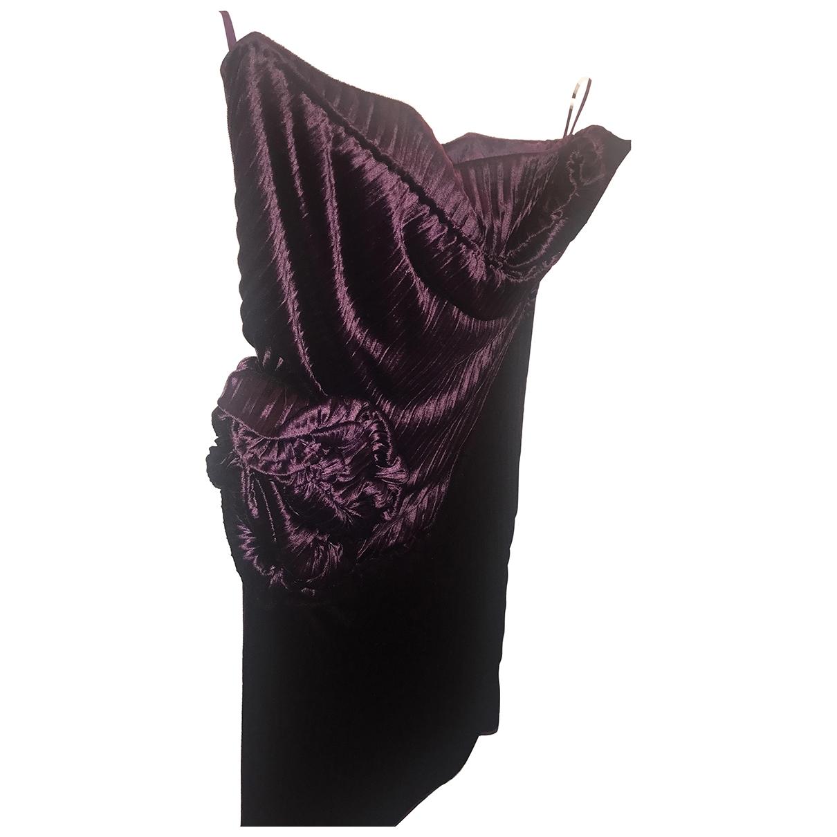 Gianni Versace - Robe   pour femme en velours - violet
