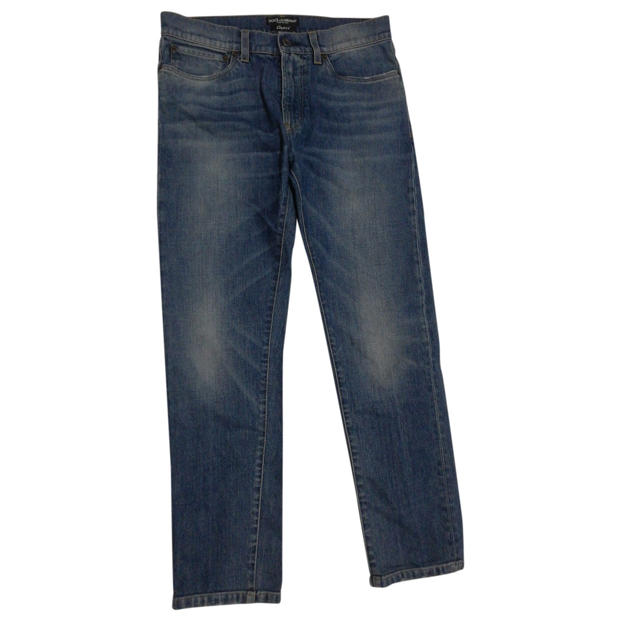 Dolce & Gabbana \N Blue Cotton - elasthane Jeans for Men 42 FR