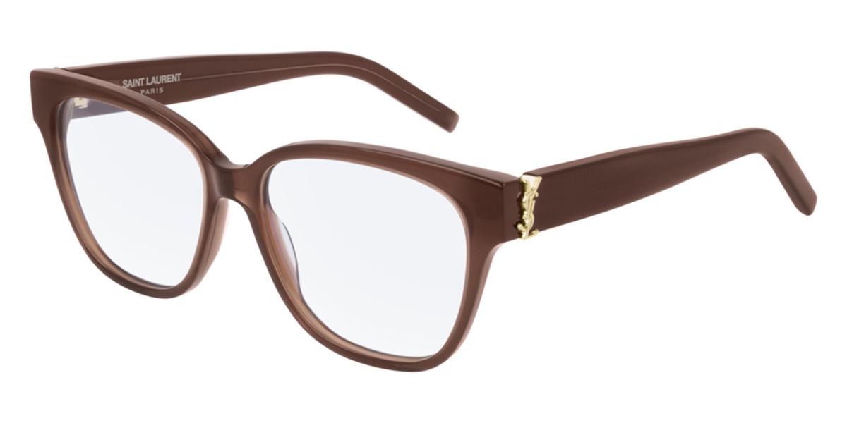 Saint Laurent SL M33 008 Women's Glasses Brown Size 53 - Free Lenses - HSA/FSA Insurance - Blue Light Block Available