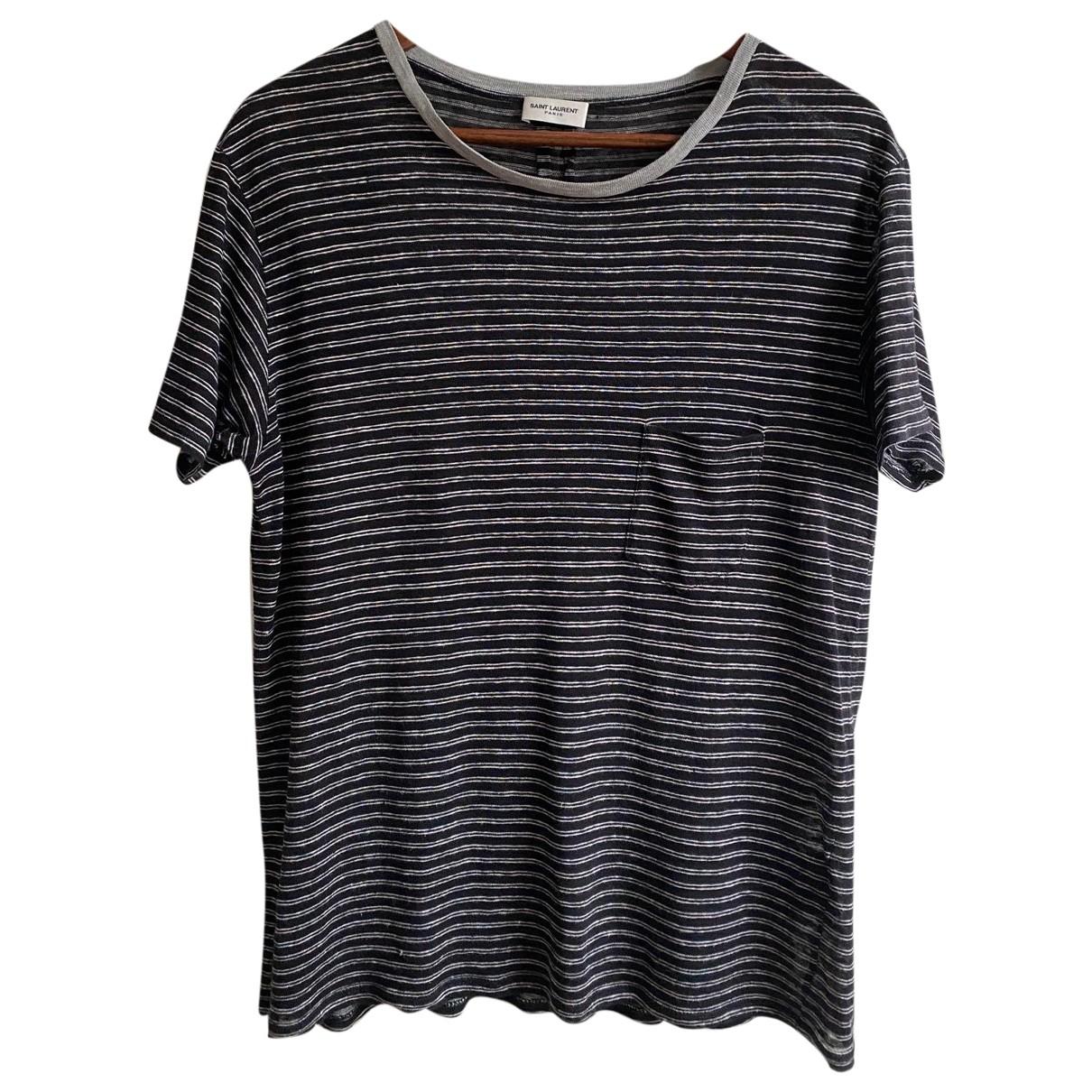 Saint Laurent N Black Linen T-shirts for Men L International