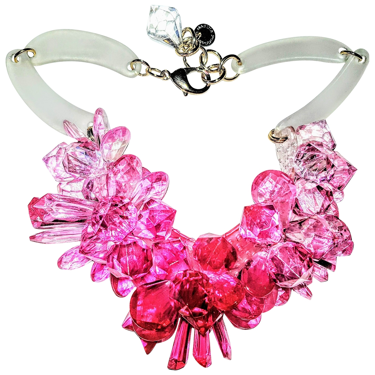 Non Signé / Unsigned  Maille Américaine Pink necklace for Women \N