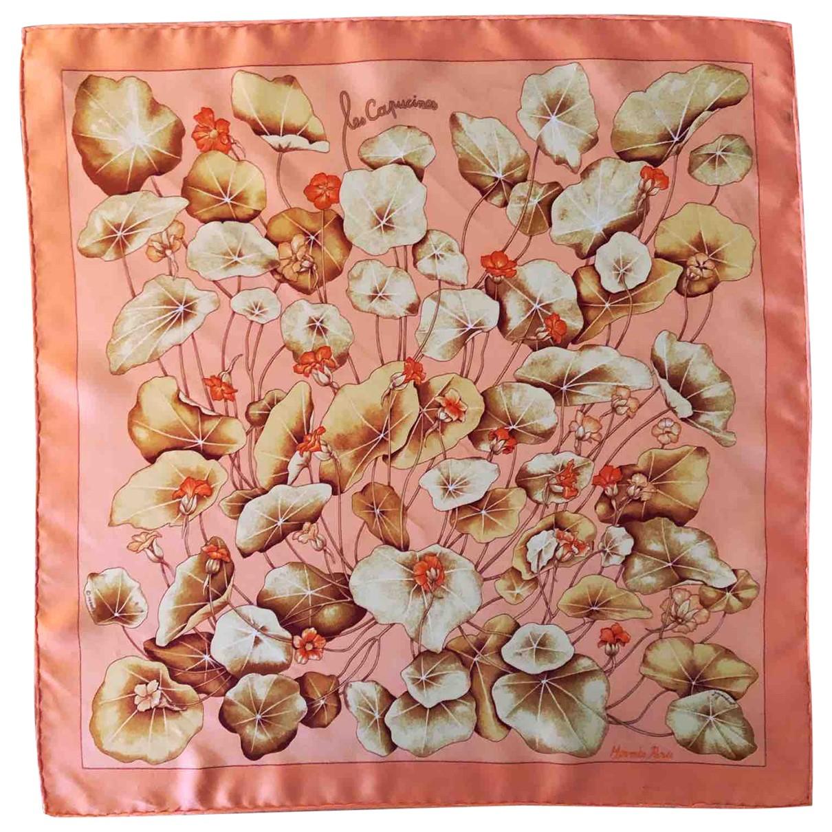 Hermès Gavroche 45 Pink Silk scarf for Women \N