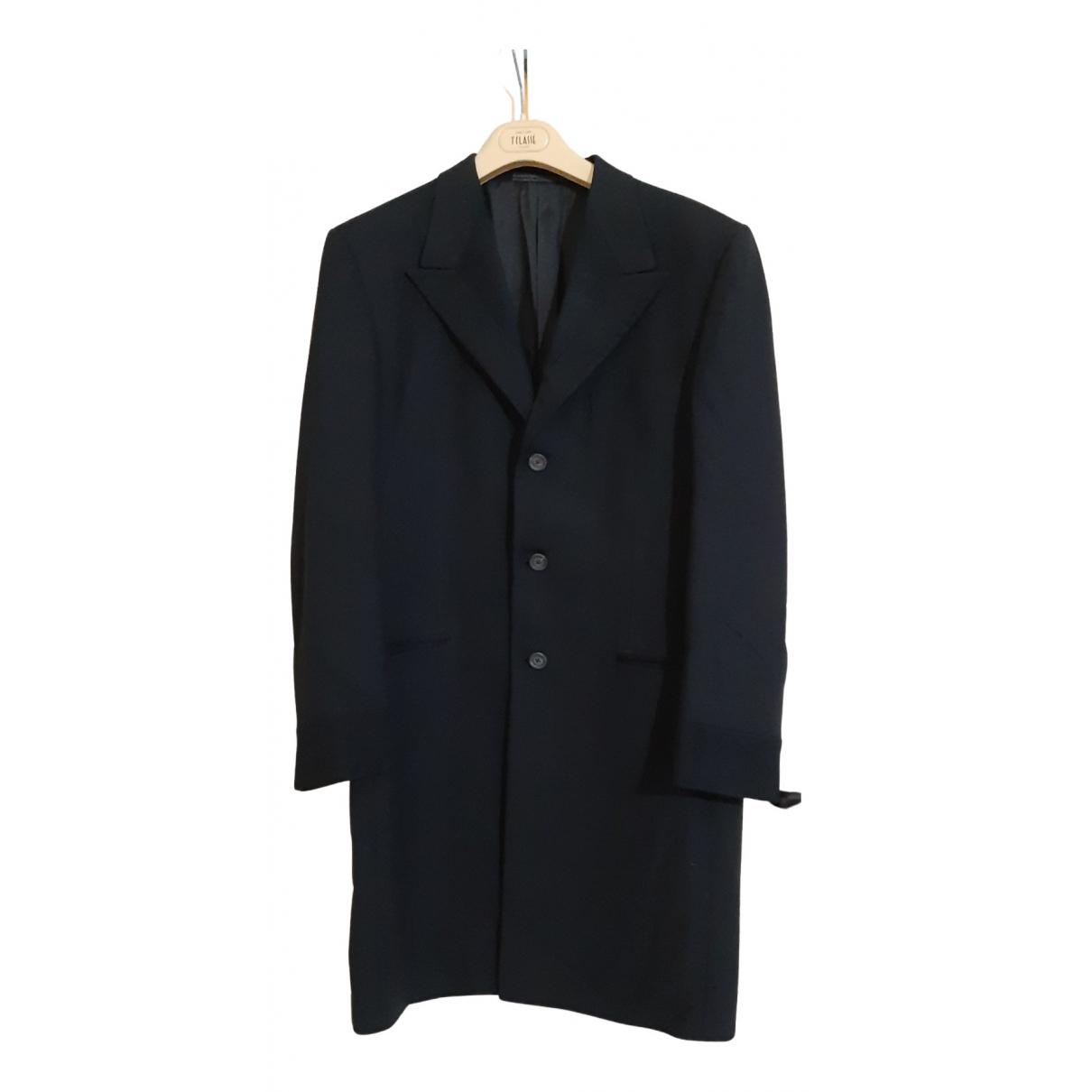 Gianni Versace N Black Wool coat  for Men 50 IT