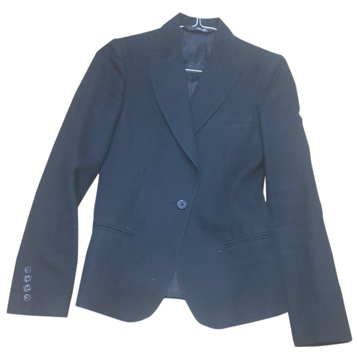 Liu.jo \N Black Cotton jacket for Women 40 IT